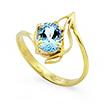 Кольцо в желтом золоте с аквамарином D-109-228 весом 2.28 г  стоимостью 25000 р.