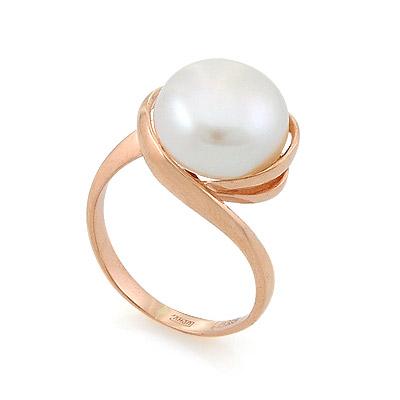Кольцо с жемчугом в золоте 6.5 г SL-2135-550
