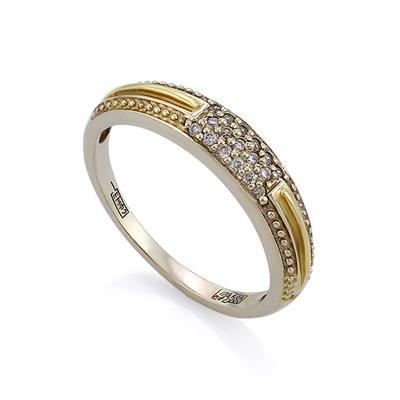 Золотое кольцо с бриллиантами 2.65 г SLV-K186