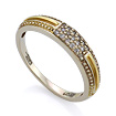 Золотое кольцо с бриллиантами SLV-K186 весом 2.65 г  стоимостью 27000 р.