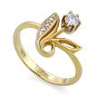 Золотое кольцо с бриллиантами SLV-K399 весом 2.83 г  стоимостью 48600 р.