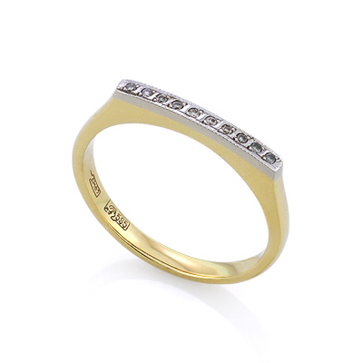 Золотое кольцо с бриллиантами 2.3 г SLV-K093