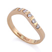Золотое кольцо с бриллиантами SLV-K236 весом 2.48 г  стоимостью 28800 р.