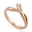 Золотое кольцо с бриллиантами SLV-K098 весом 2.77 г  стоимостью 17280 р.