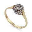 Золотое кольцо с бриллиантами SLV-K154 весом 2.32 г  стоимостью 29880 р.