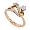 Золотое кольцо с бриллиантами SLV-K097 весом 3.55 г  стоимостью 32400 р.