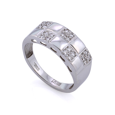 Золотое кольцо с бриллиантами 4.67 г SLV-K242
