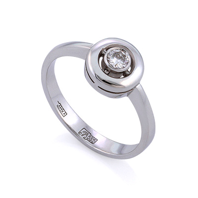 Золотое кольцо с бриллиантами 3.11 г SLV-K387