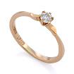 Золотое кольцо с бриллиантами SLV-K416 весом 1.33 г  стоимостью 15660 р.