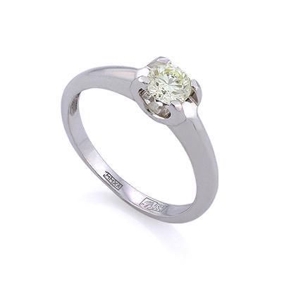 Золотое кольцо с бриллиантами 2.03 г SLV-K396