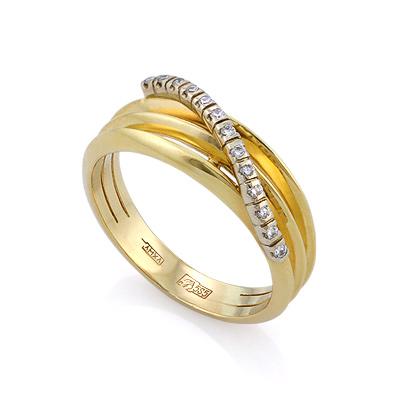 Золотое кольцо с бриллиантами 4.47 г SLV-K323