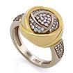 Золотое кольцо с бриллиантами SLV-K377 весом 8.23 г  стоимостью 84600 р.