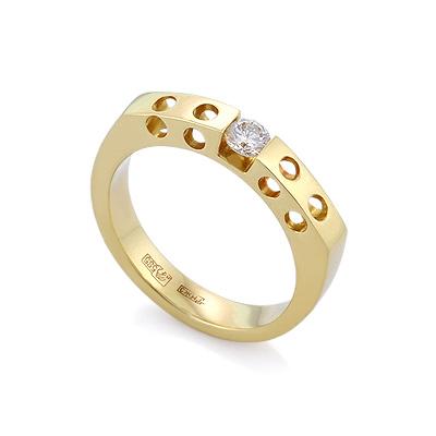 Золотое кольцо с бриллиантами 5.55 г SLV-1114