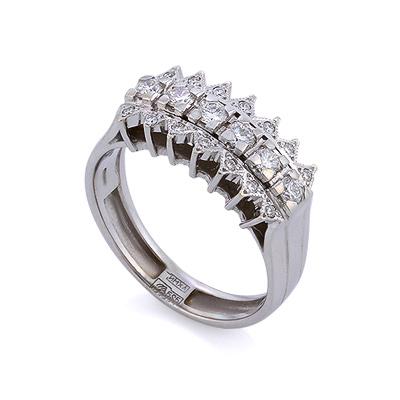 Золотое кольцо с бриллиантами 5.83 г SLY-105