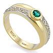 Кольцо из желтого золота с изумрудом и бриллиантами SLV-0226 весом 4.37 г  стоимостью 78660 р.