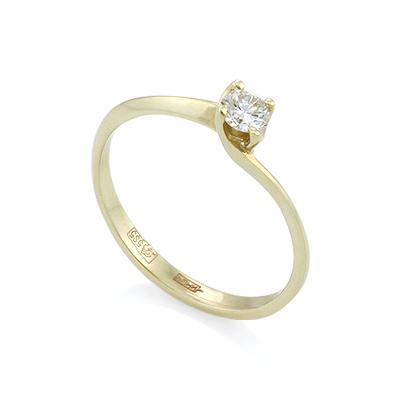 Золотое кольцо с бриллиантами 1.68 г SL-015-160
