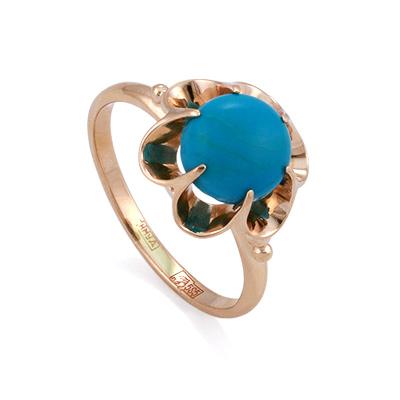 Кольцо с природной бирюзой 3.2 г SL-0221-314