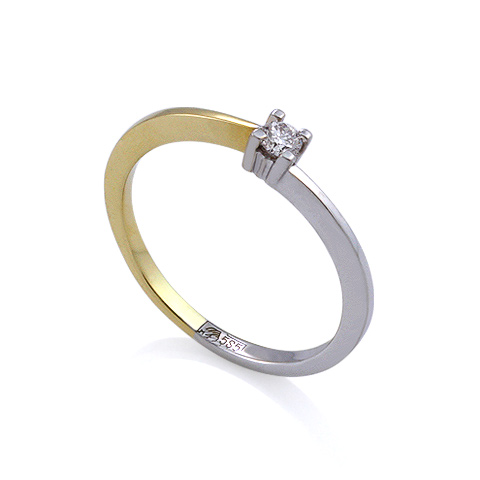 Золотое кольцо с бриллиантами 1.06 г SL-5010-106