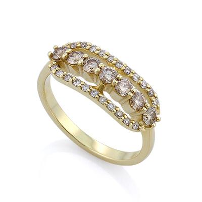 Золотое кольцо с бриллиантами 2.73 г SLY-0208-275