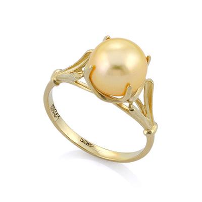 Золотое кольцо с золотым жемчугом 3.05 г SL-0259-310
