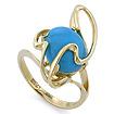 Золотое кольцо с бирюзой SLK-2845-440 весом 4.4 г  стоимостью 21340 р.