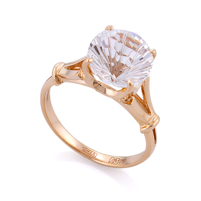 Кольцо с натуральным горным хрусталем 3.72 г SL-0255-370