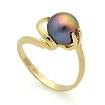 Золотое кольцо с черным жемчугом SL-2133-392 весом 3.9 г  стоимостью 16770 р.