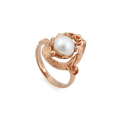 Жемчуг в кольце из золота 5.56 г SL-0245-556