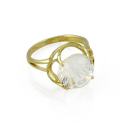 Кольцо с круглым горным хрусталем в золоте 4.7 г SL-0263-470