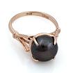 Кольцо с черным жемчугом 3.9 г SL-0255-390