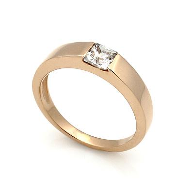 Обручальное кольцо с квадратным бриллиантом 3.61 г SL-1038-361