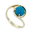 Золотое кольцо с бирюзой огранки кабошон SL-2125-223 весом 2.23 г  стоимостью 10816 р.