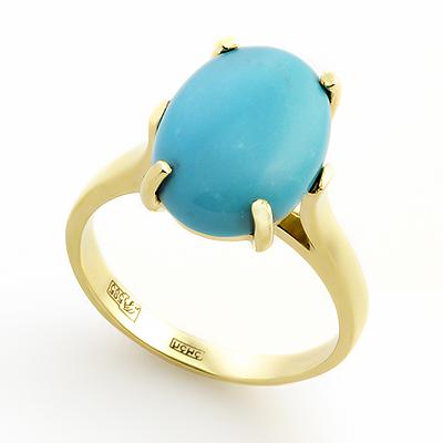 Кольцо с бирюзой 4.2 г SLK-0241-420
