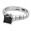 Кольцо с черным квадратным бриллиантом 5.25 г SLY-0275-525
