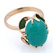 Золотое кольцо с крупной бирюзой огранки кабошон 5.45 г SV-0232-545
