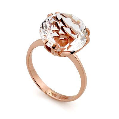 Кольцо с горным хрусталем в золоте 4.45 г SL-2848-445